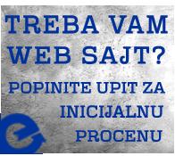 Upit za web sajt - procena